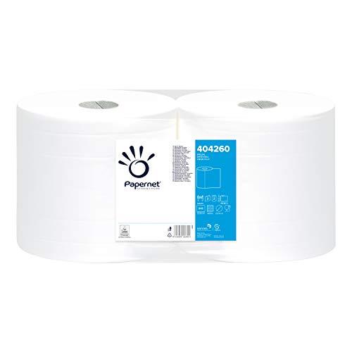 Papernet 404260 Bobina Industriale di Carta, 2 Veli, Bianco, 190.8 M, 2 Rotoli