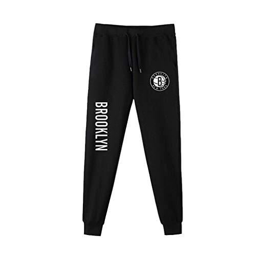 Mannen Sweatpants NBA Basketbal Training Broek Casual Comfortabele Brooklyn Nets Team Logo Hardloopbroek voor Jeugd
