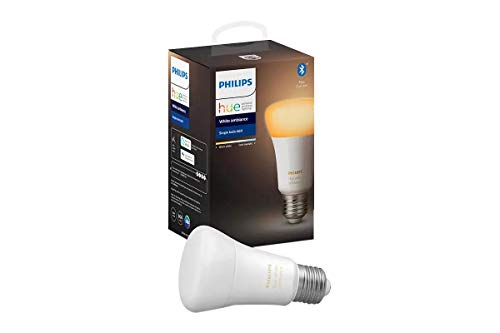 Philips Hue White Ambiance Edison Screw (A60) Dimmable LED Smart Bulb (Latest Model, Compatible with Bluetooth, Amazon Alexa, Apple HomeKit, and Google Assistant)