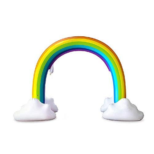 lossomly Aspersor de agua inflable, juguete para el verano al aire libre, juguete de agua inflable en spray, arco iris, jardín juego de agua para niños