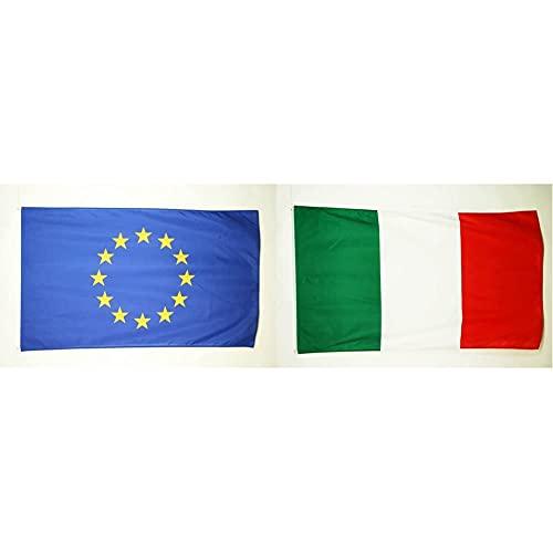 AZ FLAGAZ Flag Bandiera Multicolore & AZ Flag PA-15 Bandiera Italia Occhielli, 150Cm x 90Cm