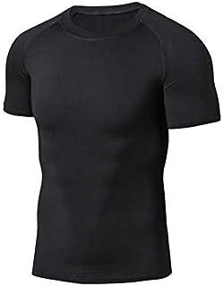 قميص داخلي رقيق للرجال لتخسيس الجسم باكمام طويلة ومشد ضغط للبطن، ملابس داخلية لتشكيل الجسم، تحكم في البطن، لون اسود، مقاس XL