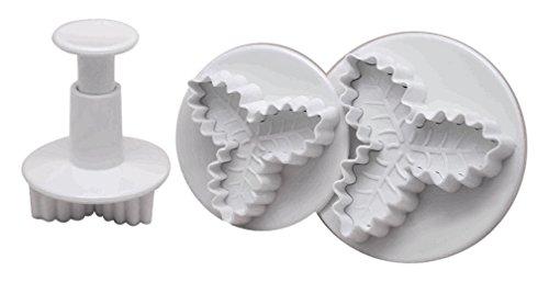 DeColorDulce Acebo Set emporte-pièces avec éjecteur, Blanc, 28 x 12 x 4 cm, Lot de 3