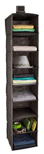 ClosetMaid 31454 8-Shelf Hanging Closet Organizer, Gray