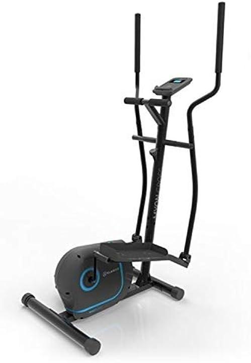 Cyclette ellittica klar fit volano 12 kg, frenatura magnetica, supporto per tablet, sensore impulsi FIT4-90300-lkoi