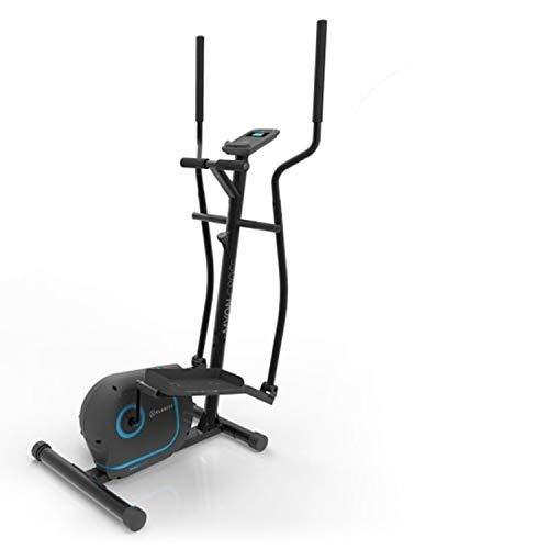 KLAR FIT Myon Cross - Ellittica, Cyclette, Telaio Certificato EN957, Volano 12 kg, Frenatura Magnetica, Supporto per Tablet, Trasmissione a Cinghia SilentBelt, Sensore Impulsi, Nero