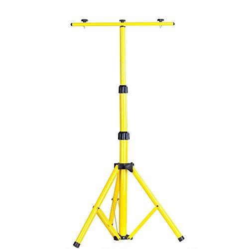 SAILUN Teleskop Stativ Flutlicht Fluter Baustrahlerstativ für LED-Strahler Halogen Strahler Gelb 50-150cm
