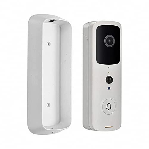 Videoportero Con Cámara E Intercomunicador, Tuya App Remote Smart Doorbell, 1080p Hd Pixel, Detección De Movimiento PIR, 2.4G Wi-Fi, Visión Nocturna Por Infrarrojos (Blanco)