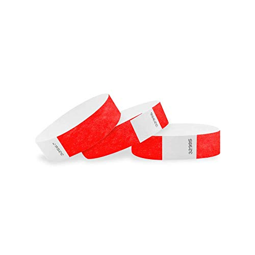 WristCo - Braccialetti in Tyvek da 3/4', confezione da 2500 braccialetti in carta per eventi