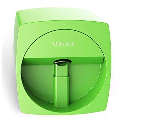 O2 Genuine Nails V11 Mobile Art Design Nail Printer Nails Art Designs! Impresora de uñas con sistema operativo iOS Android con función WiFi, verde, 1