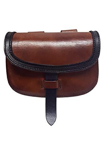 Brown Leather Renaissance Belt Pouch