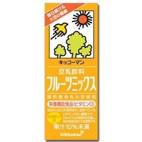 キッコーマン 豆乳飲料 フルーツミックス 200ml×18本×2箱(36本)