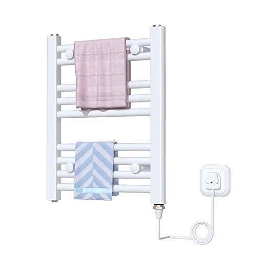 Hesily BadheizköRper Elektrisch Badezimmer Handtuchhalter, FüR Stilvolle Bad KüChe HeizköRper WäSchestäNder Weiß (500 * 400 Mm)
