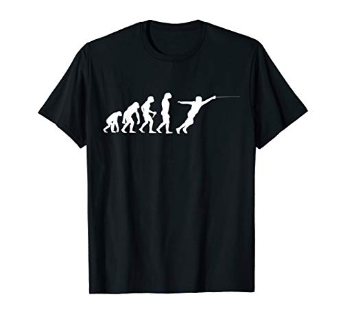 Evolution Fechten Degen Fencing Säbel Hobby Fechter T-Shirt