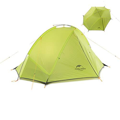 DERYANM Doppelzelt 2-Personen Zelt Beachcamping exklusiv Wasserdicht, Winddicht und regendicht Stärke Nagellack (blau grün)-Green-Individual