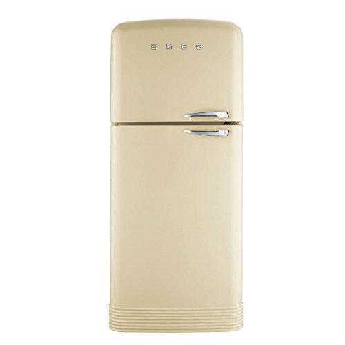Smeg FAB50LCR Independiente 412L A++ Crema de color nevera y congelador - Frigorífico (412 L, N-T, 5,5 kg/24h, A++, Compartimiento de zona fresca, Crema de color)