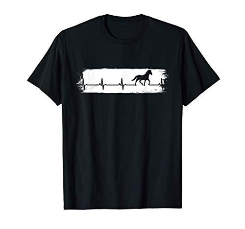 Caballos de época Latido del corazón Silla de montar Caballo Camiseta