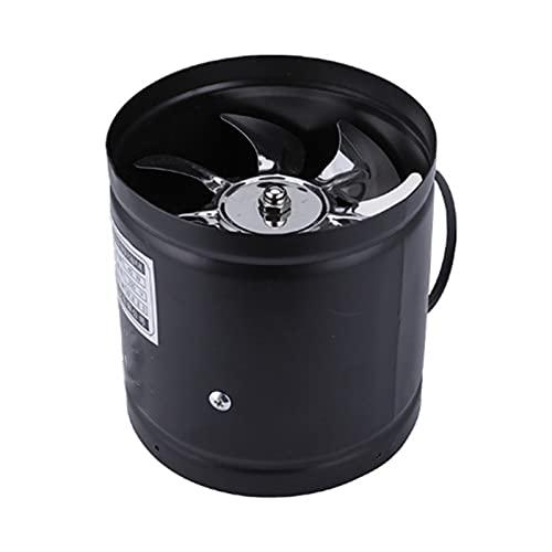 KGDC Exhaust Fan 4 Inch Inline Duct Fan Air Ventilator Metal Pipe Ventilation Exhaust Fan Mini Extractor Bathroom Toilet Wall Fan Duct Fan Access, 2 Colors Ventilation Fan Vent Fans (Color : Black)