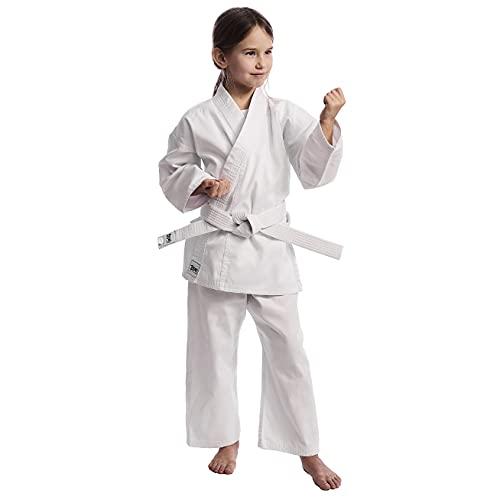 Ippon Gear Unisex Jugend Club Karate GI Kinder Karateanzug, weiß, 100