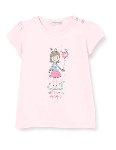 Salt & Pepper Baby-Mädchen 03212211 T-Shirt, Rosa (Pastell Rose 818), (Herstellergröße: 86)