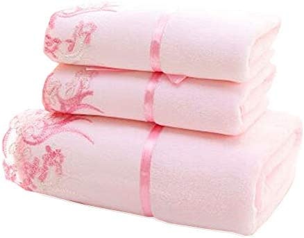 YIH Bath Towel Sets of 3 Prime Pink Premium Quality Bathroom Towels Super Soft Fluffy and Absorbent product image