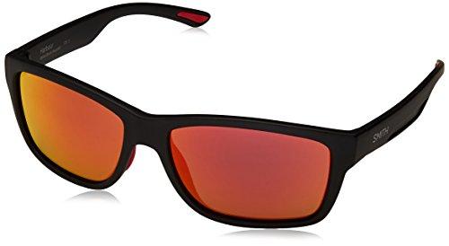 Smith Herren Harbour Uz 003 58 Sonnenbrille, Schwarz (Matt Black/Red FL)
