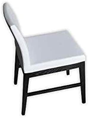 Aria Wood Stretchers Chair (Black Leather)