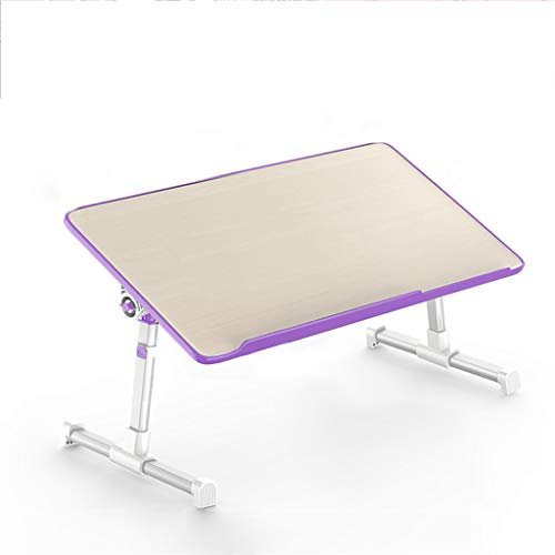 LBYMYB - Mesa plegable para escritorio, multicolor, Panel base de madera., morado, pequeño