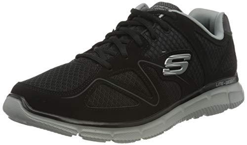 Skechers Satisfaction 58350-bkgy, Zapatillas para Hombre, Negro (Black 58350/Bkgy), 44 EU