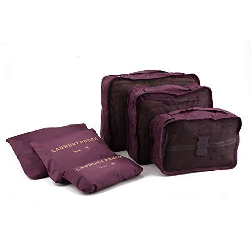 healthwen 6 Unids/Set Bolsas de Almacenamiento de Equipaje de Viaje Cuadradas Bolsa Organizador de Ropa Estuche