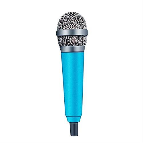 RRYM Microfoons Handheld Mic Draagbare Mini 3.5Mm Stereo Studio Microfoon Voor Laptop Pc Desktop Mic Ktv Karaoke 5.5Cm*1.8Cm B Blauw