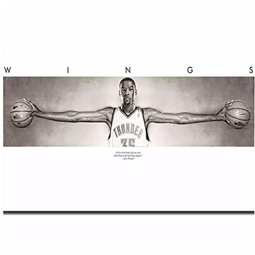 FACAIA Kevin Durant Wings - Póster de baloncesto (60 x 90 cm, sin marco)