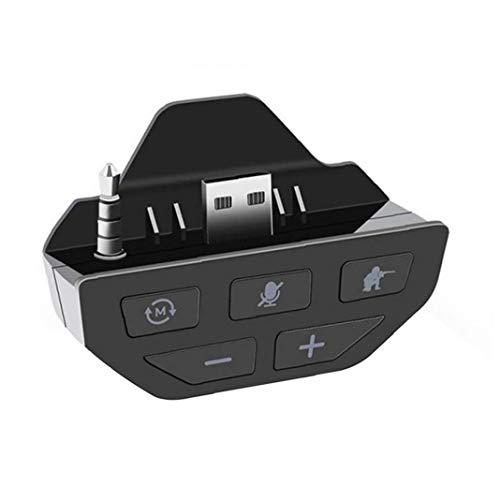 Gracy Sound Enhancer Gamepad Stereo-Soundkarte Kopfhörer Audio Adapter-Controller-Zubehör kompatibel mit Xbox BlackVideo Spiel Zubehör