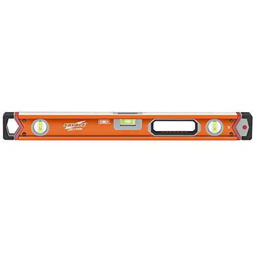 Swanson Tool Company 24 In Lighted Box Beam Level W/SUPERSHOCK End Caps—Contractor Series, Orange