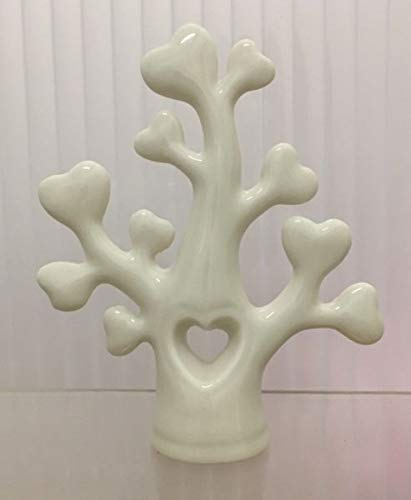 Albero della vita medio 12 cm rami a cuore in porcellana