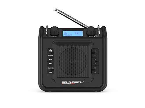 Perfectpro Soliddigital Persönliches Radio, tragbar, Schwarz