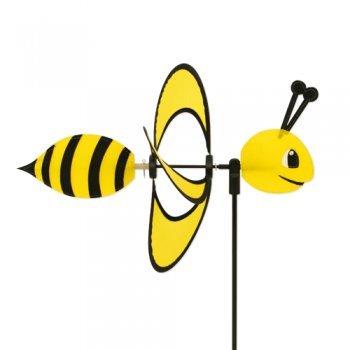 Vento ruota - Little Magic Bee - girandola: Ø28cm, motivo: 35x13cm, altezza totale: 85cm - resistente ai raggi UV e alle intemperie - incl. asta in fibra di vetro