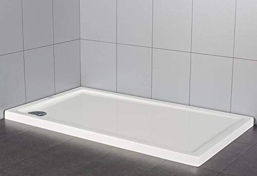 Plato de ducha rectangular en material acrílico | altura 5 cm| serie extraplano 90 X 100 cm