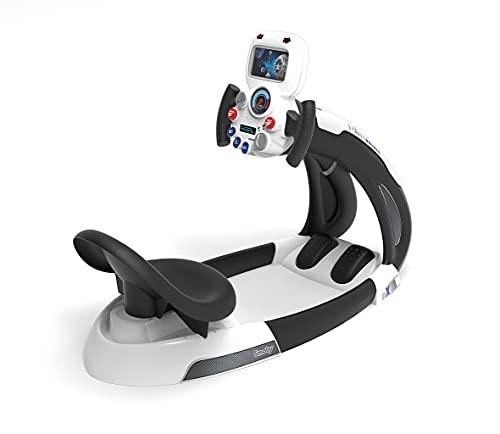 Smoby - V8 Driver Space - Simulateur de Conduite pour Enfant - Navette Spatiale - Volant Electronique - Sons et Lumières - 370217