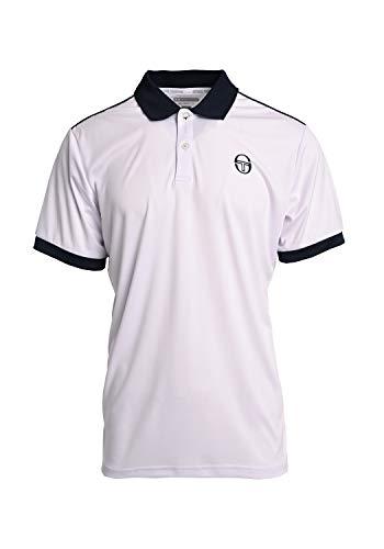 Sergio Tacchini Herren Club Tech Polo, White/Navy, 3XL