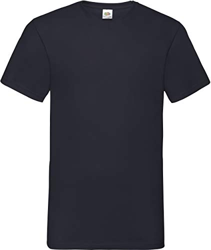 Fruite of the Loom Valueweight V-Neck T-Shirt, vers. Farben L,Schwarz