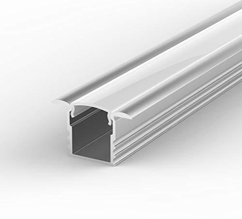 End Caps Diffuser K0 MINI Alu.Profile for 8mm LED tape; Anodized Silver 1m