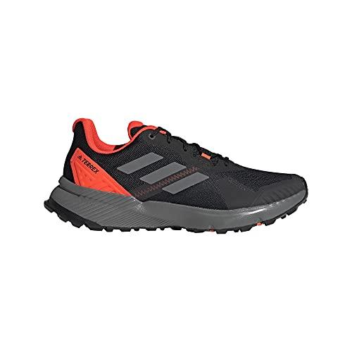 adidas Terrex SOULSTRIDE, Zapatillas de Trail Running Hombre, NEGBÁS/Gricua/Rojsol, 46 EU