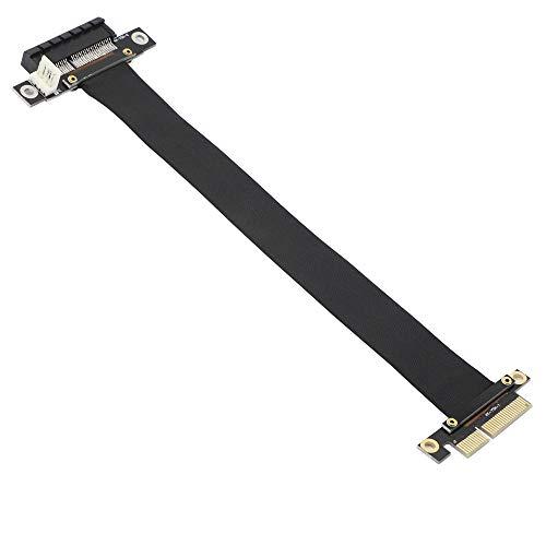 PCIE 4X Verlängerungskabel,PCI-Express 3.0 4X Männlich zu weiblicher Riser Cable PCI-E 4X Extender Adapter Jumper for Graphics Card(23cm,180°