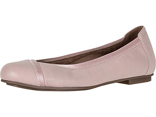 Vionic Women's Spark Caroll Ballet Flat - Ladies Dress Casual Shoes with Concealed Orthotic Arch Support Light Pink 8.5 Medium US