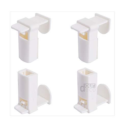 ourdeco® Zubehör/Set Ersatzklemmträger Plissee Easy/Klemmen=Montage ohne Bohren=Smartfix=Klemmfix-Plissee=Easy-to-fix