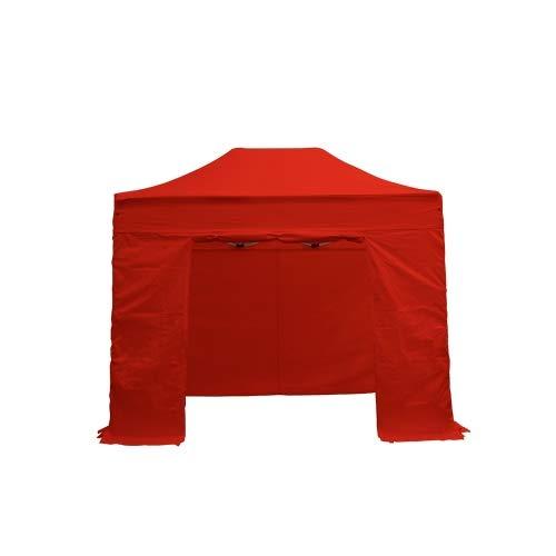 Interouge Barnum Pliant 2x3m Complet Structure Semi-Pro Aluminium 40mm bâche Polyester PVC 300g/m² étanche traité Anti UV+ 4 Murs latéraux + Sac de Transport + kit arrimage