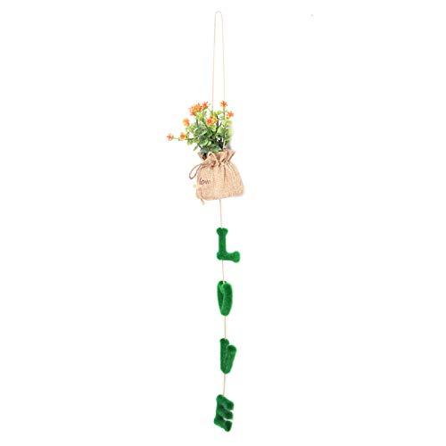 Kadimendium Petite Plante en Pot à Suspendre en Plastique, Petite Plante en Pot, pour Mur de Bureau pour Mariage