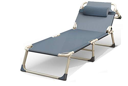 CVMFE Folding camping bed, adult and child recliner, portable camping bed, single folding bed for lunch break, outdoor simple folding bed, stylish portable beach bed