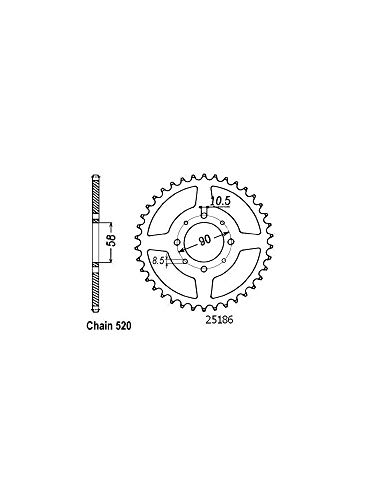 Couronne Acier - 520-41 Dents - Made in Germany
